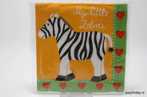 4 Servetten, Zebra (239)