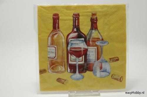 4 Servetten, Wijn (233)