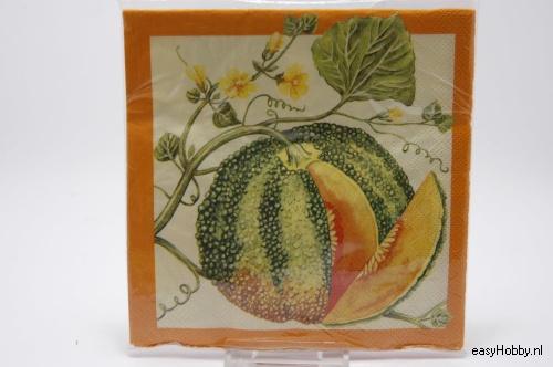 4 Servetten, Meloen (190)