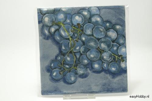 4 Servetten, Druiven (114)