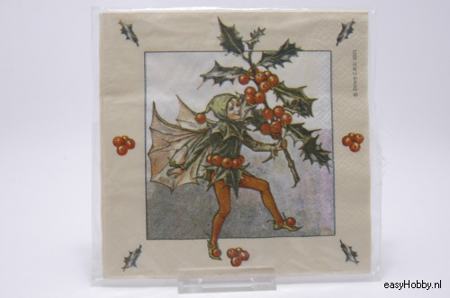 4 Servetten, Flower Fairy Hulst (126)