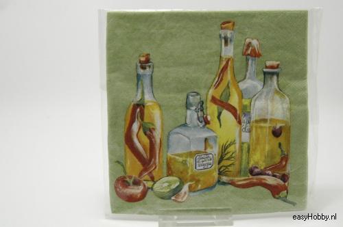 4 Servetten, Olijfolie (195)