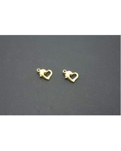 slotjes hartvorm goudkleur