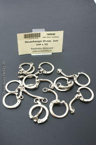 Sleutelhangers metaal 25mm (10st)