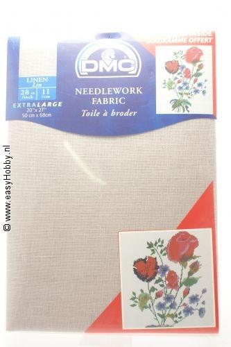 DMC handwerkstof  linnen zacht lila