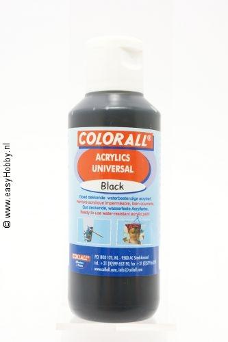 Acrylverf universeel zwart