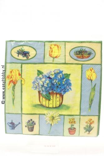 4 servetten hortensia (49)