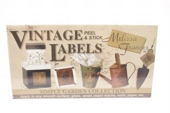 Vintage labels, Melissa Frances Simply garden