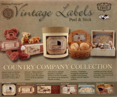 Vintage labels, Melissa Frances Country company