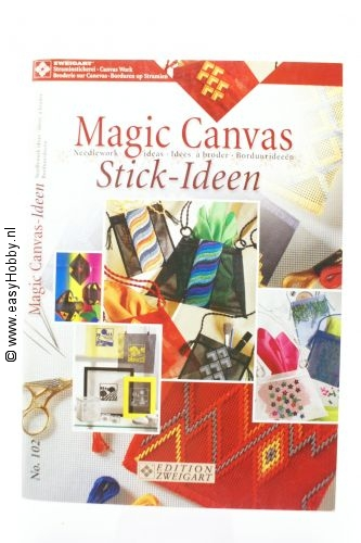 Borduurideeenboek, No. 102 Magic canvas
