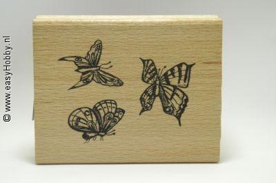 Stempel, Drie vlinders