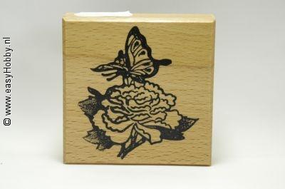Stempel, Vlinder op bloem