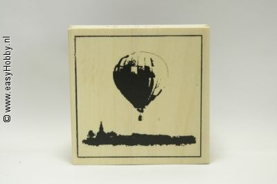 Stempel, Luchtballon boven landschap
