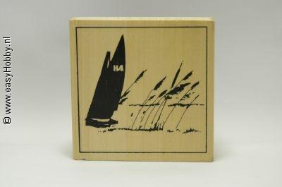 Stempel, Zeilboot met rietkraag