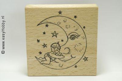 Stempel, Maan met baby