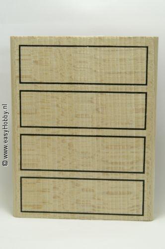 Stempel, Vakverdeling (4 rechthoeken)