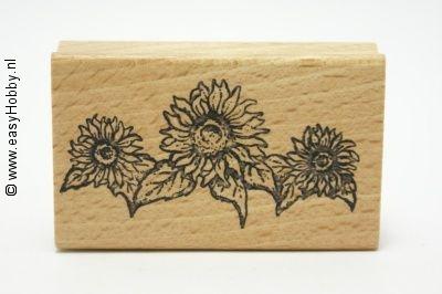 Stempel, Drie zonnebloemen