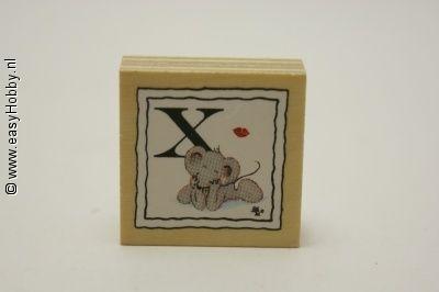 Stempel, X met muis