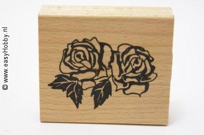 Stempel, Twee rozen met blad