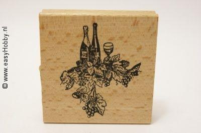 Stempel, Wijnflessen en wijnranken