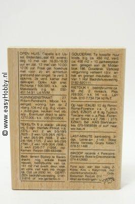 Stempel, Krantenadvertentie achtergrond