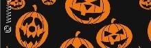 Halloween  transparant papier, oranje pompoen