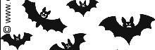 Halloween transparantpapier zwarte vleermuis
