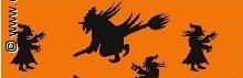 Halloween transparantpapier zwarte heks