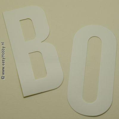 Plakletter Nobel 90mm, wit, letter I