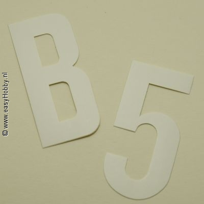 Plakletter Nobel 60mm, wit, letter J