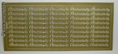 Stickervel, Handmade bij (goud)