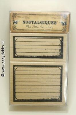 Stempelset, Vintage label