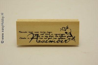 Stempel, maand november