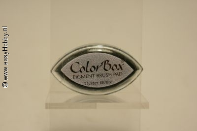 Stempelkussen color box kleur wit  (oyster white)