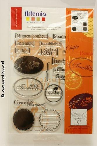 Artemio, Clear stamp 1080 kaders en teksten