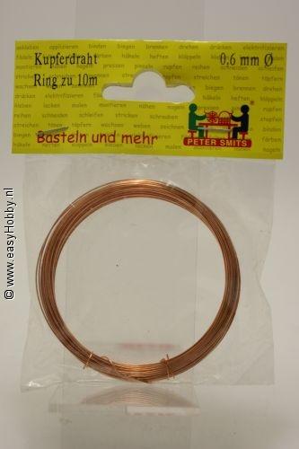 Koper draad 0,6 mm - rol
