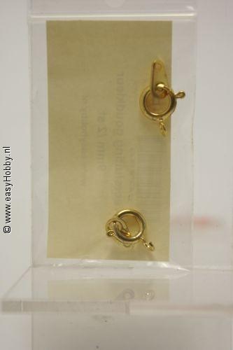 Slotje goudkleur 9 mm