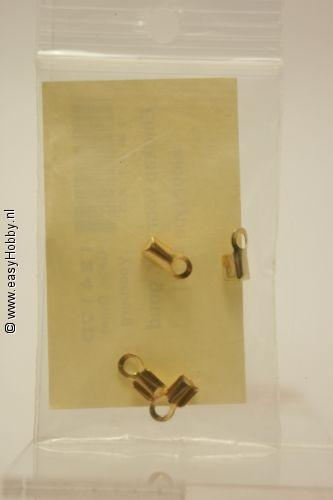 Leerkalot klein goudkleur, 4 stuks
