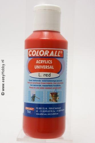 Acrylverf universeel rood