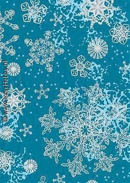Decopatchpapier 153 - 521 Kerstmotief zilver