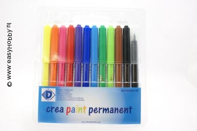 Krimpie Dinkie stiften Permanent  markers  - 12 kleuren