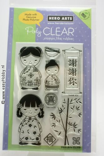 Clear stempel Chinese Dolls