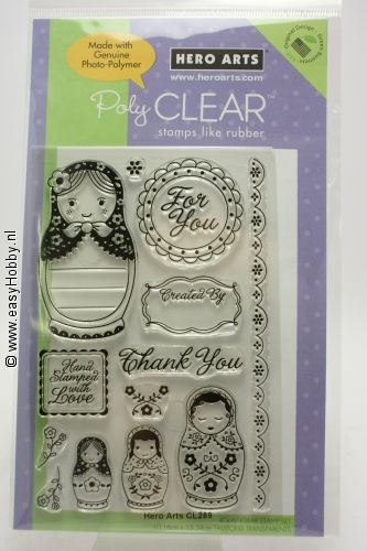 Clear stempel Dolls