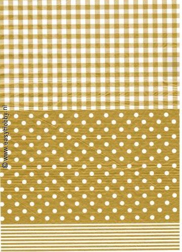 Decopatchpapier 175 - 543  goudkleurig
