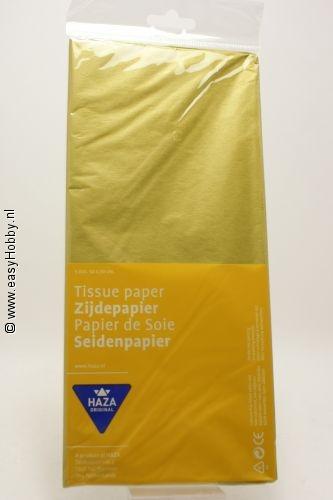Zijdepapier goud dubb.zijdig