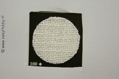 Zweigart Handwerkstof Ariosa 140cm breed wit, per 10 cm