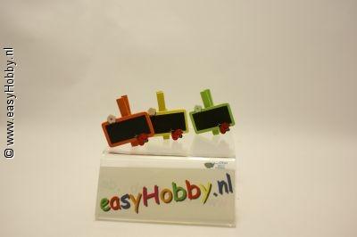 knijpertjes model schoolbord 3 stuks