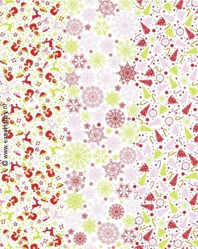 Decopatchpapier 212 - 587 Kerstmotief