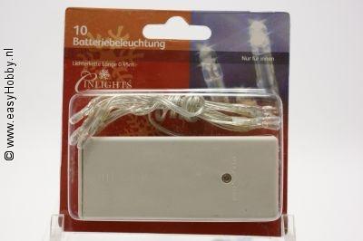 Lichtketting - kerstverlichting 10 stuks op batterij