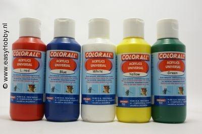 Acrylverf universeel voordeelset 5 kleuren